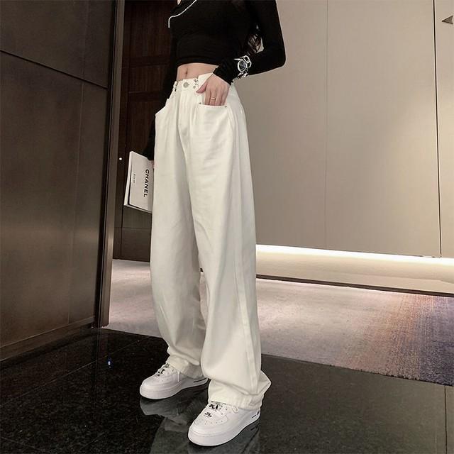 【ボトムス】カジュアル通勤無地ファッションデニムパンツ42959722
