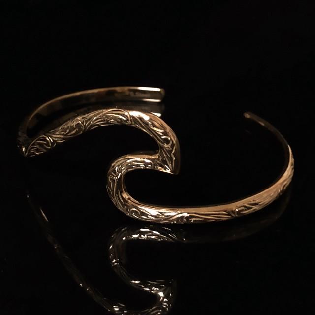 24kgp Hawaiian jewelry bangle(wave)