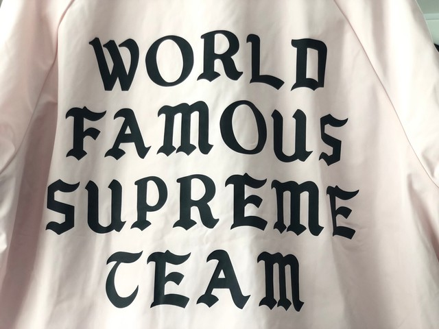Supreme 20SS WORLD FAMOUS COACHES JACKET PINK LARGE 110JG7476