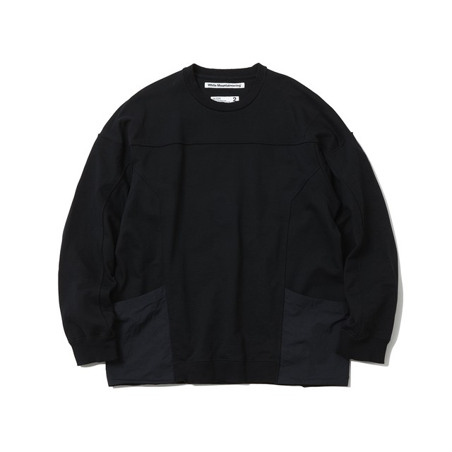 CONTRASTED SWEATSHIRT - BLACK