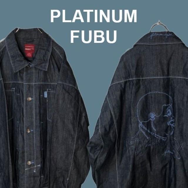 【刺繍】プラティナムフブPLATINUM FUBU☆刺繍ジャケットM1106