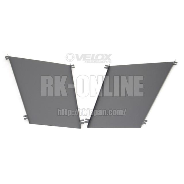 VERUS ENGINEERING(VELOX)A0081A:MAZDAロードスター ND5 フードルーバー用レインガード:左右セット:ブラックパウダーコート