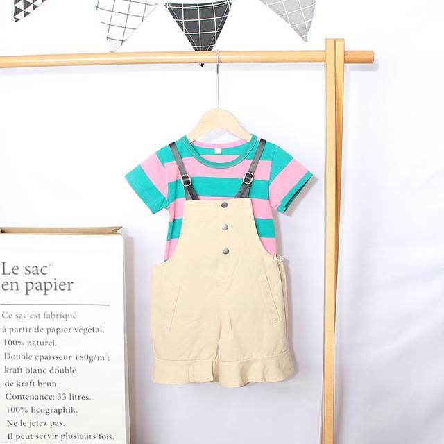 【セットアップ】ファッションシンプルスウィート半袖2点セット24835343