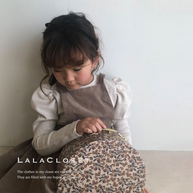 made in LALA Princess sleeves (カットソー/オートミール) LalaCloset original