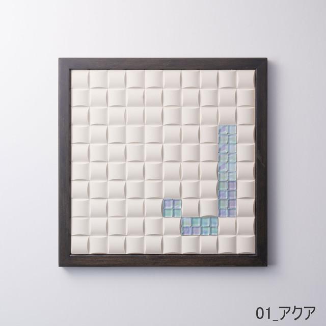 【J】枠色ブラック×ガラス インテリア アートフレーム 脱臭調湿(エコカラット使用)