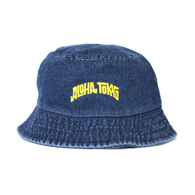 ALOHA TOKYO LOGO Bucket Hat【Denim】