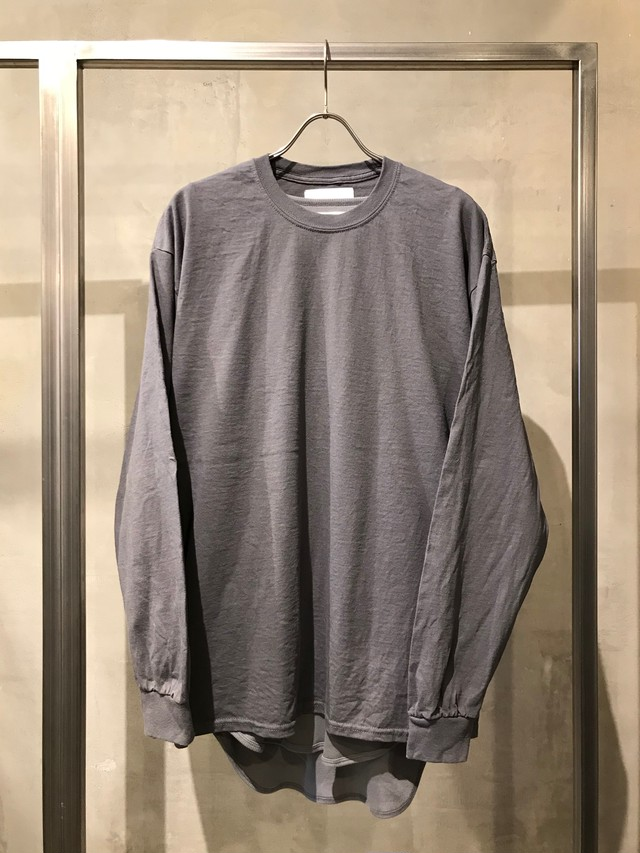 TrAnsference loose fit long sleeve T-shirt - dark soot