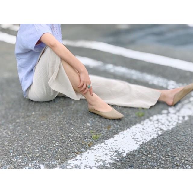 DAZZLEダズル・リネンレーヨン スリット Pants(9P34000J)