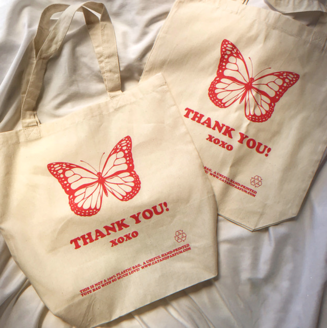 【Cat & Parfum】Thank You Canvas Tote Bag