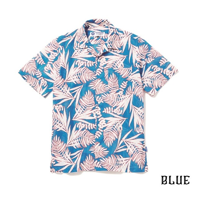 CRIMIE / C1H3-SH17	PALM TREE DOT ALOHA SHORT SLEEVE SHIRT