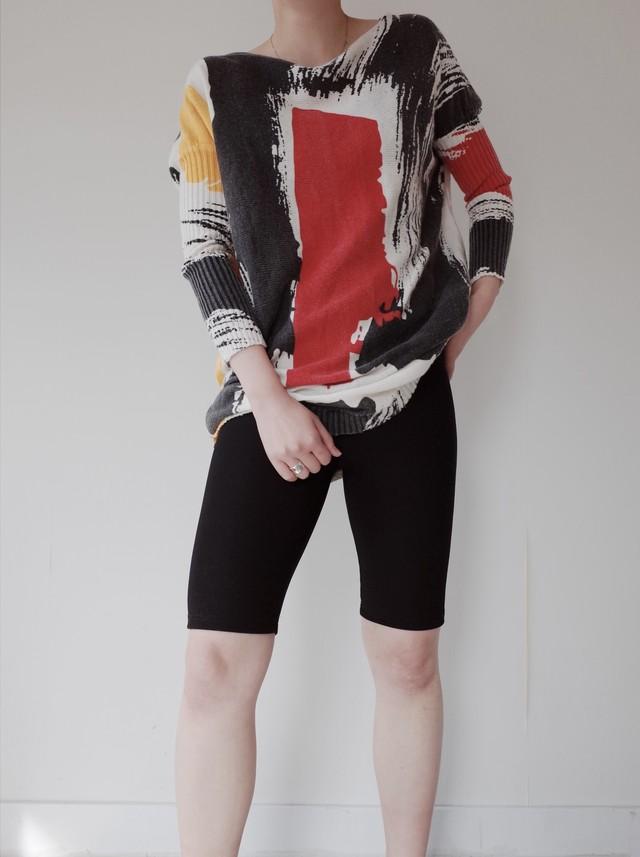 used rib design knit