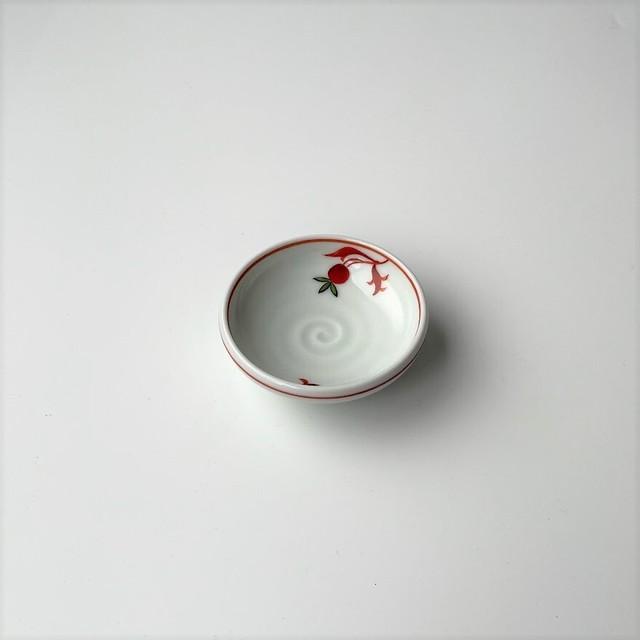 【有田焼】赤花 鉄鉢型千代口