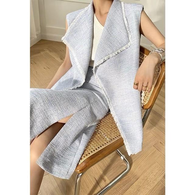 tweed sleeveless 2peace