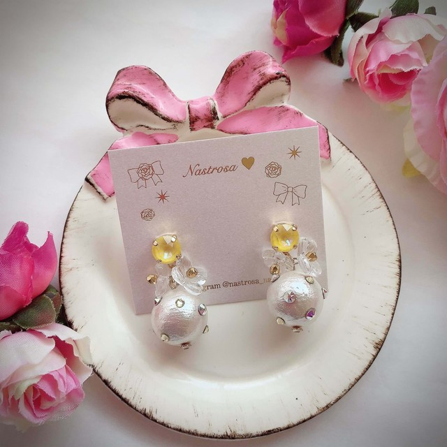 twinkle cotton pearl♡crystal yellow