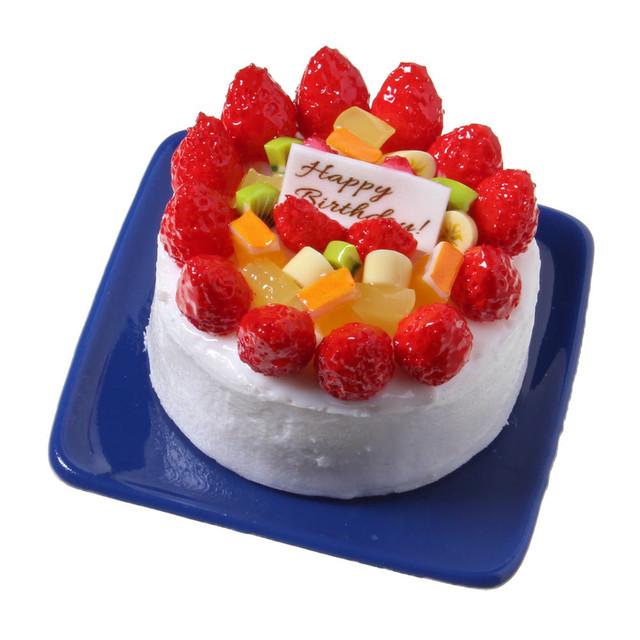 [0567]食品サンプル屋さんのマグネット(バースデーケーキ:ホワイト)【メール便不可】