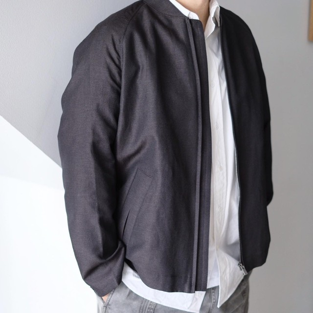 tilt The authentics / W/Li Chambray Twill Flight Jacket[Black×D.Brown]