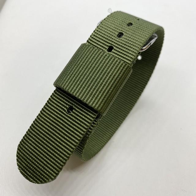 ナイロン RAFストラップ カーキ・グリーン 20mm 腕時計ベルト