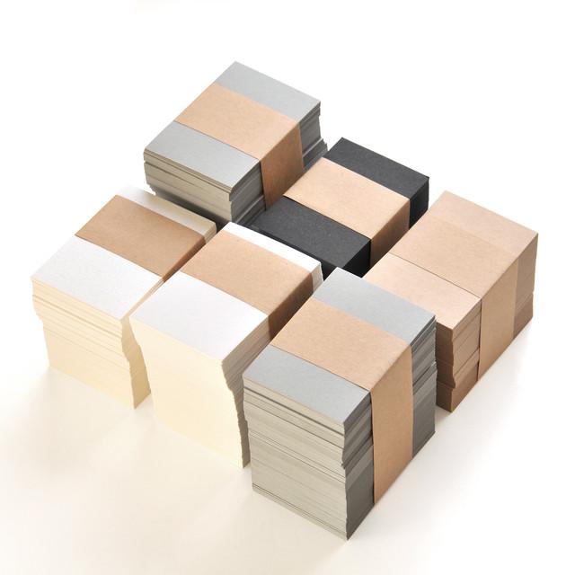 〈限定販売〉無地 カード100枚 47×67mm(パール・マット・クラフト・グレー・ブラック)5種より選択