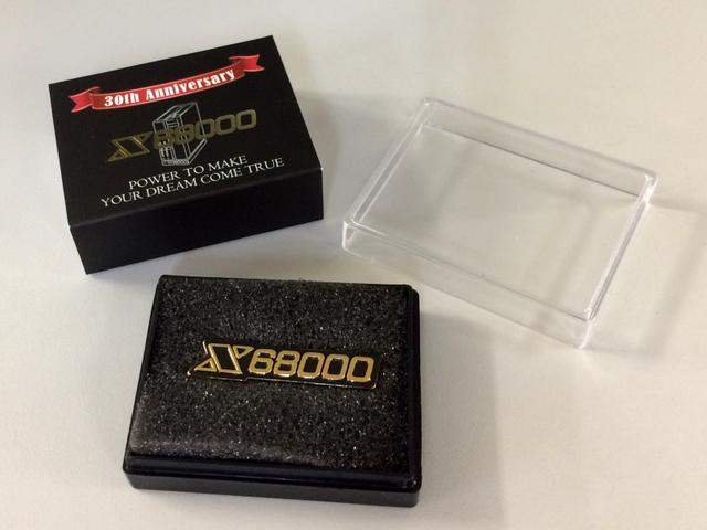 「X68000」ロゴピンズ