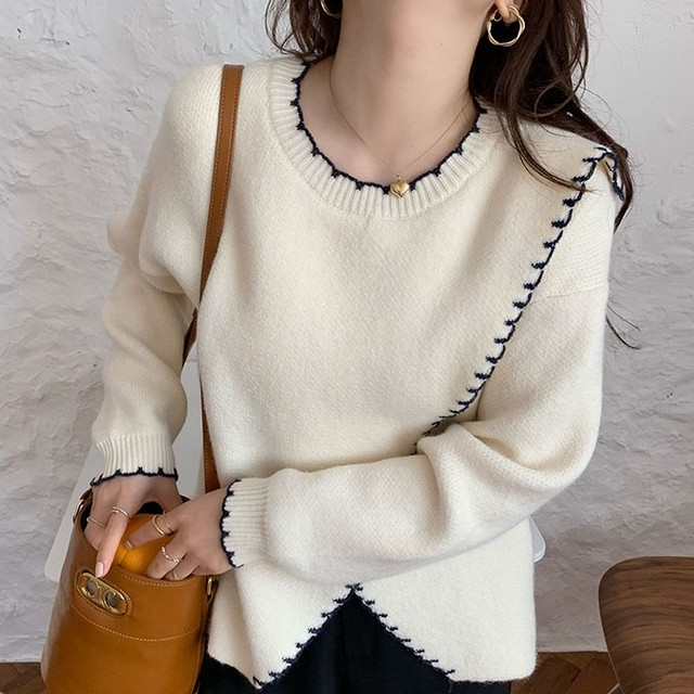 Round Neck Knit Sweater T621