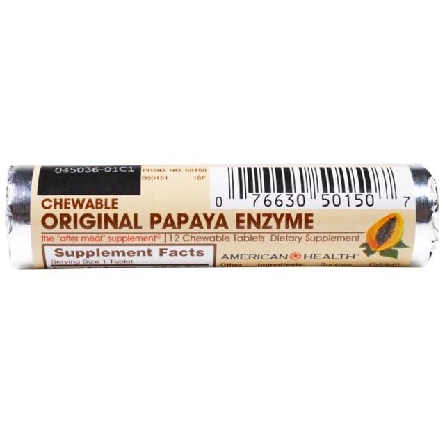 【お試し】パパイヤ酵素 12錠 AMERICAN HEALTH チュアブル オリジナル パパイヤエンザイム