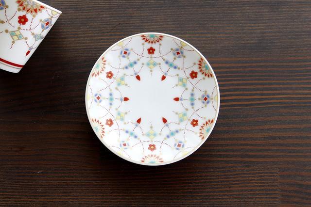 【SP3K19-01】『九谷縁起豆皿コレクション』『瓔珞文〈YOURAKUMON〉』       *かわいい豆皿 コレクション アクセサリー入れ 小物入れ 絵皿 九谷焼