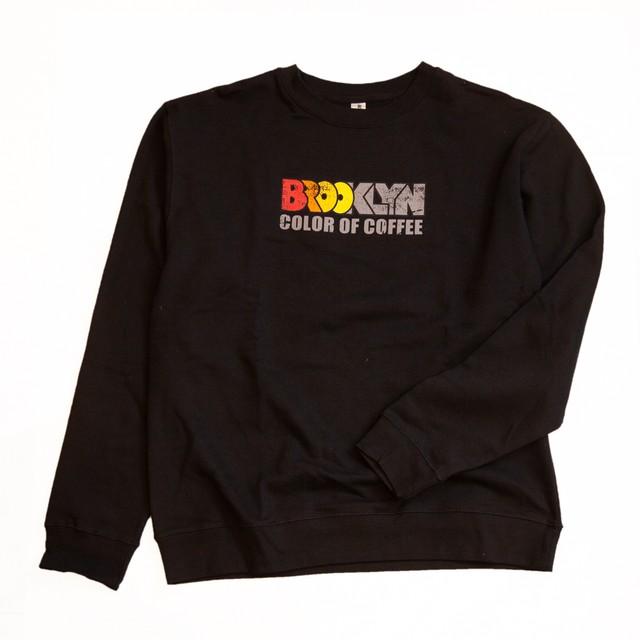 Crewneck Sweat shirt(Black,Orange LOGO)