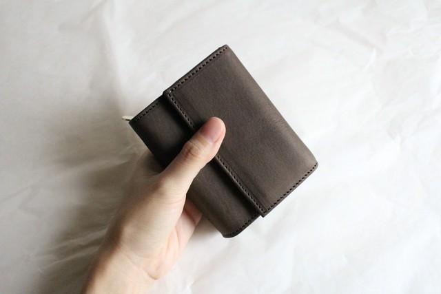 f wallet -wax brown-