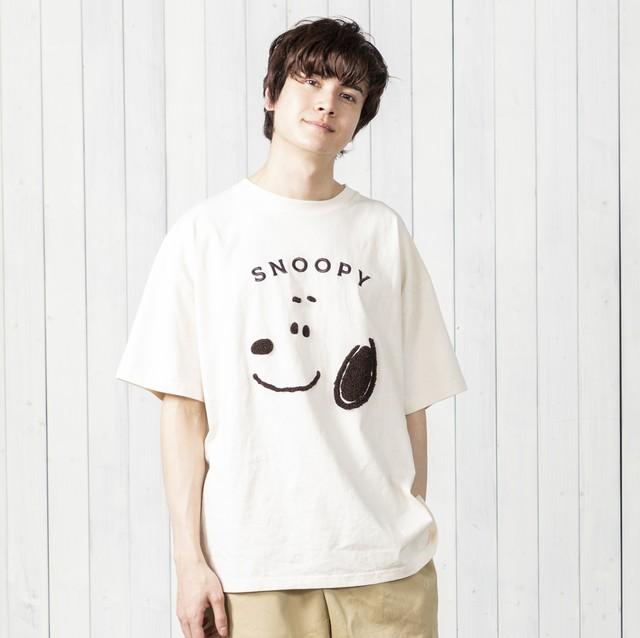 【スヌーピー】オーバーシルエット スヌーピーFACE Tシャツ NO0530128
