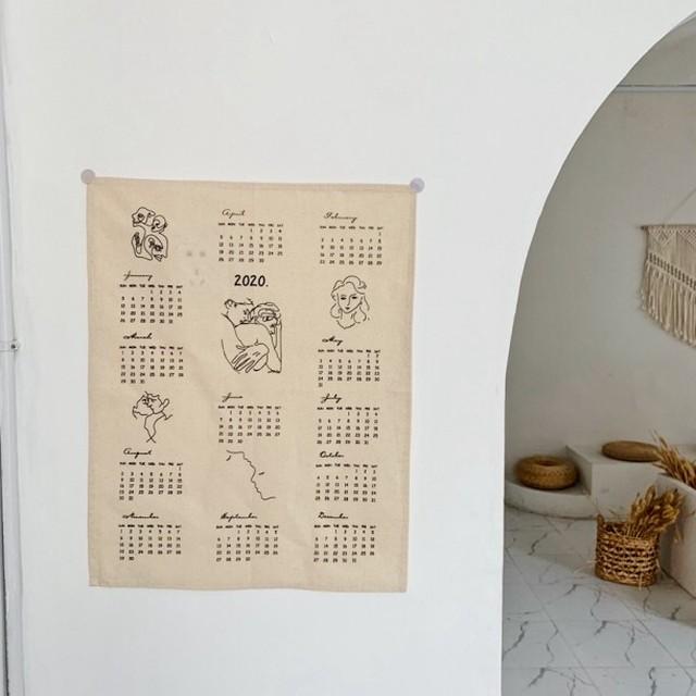 ファブリックカレンダー(2020) R1028