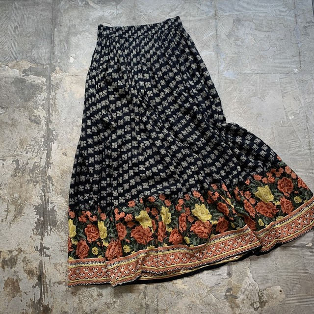 vintage dead stock rayon skirt