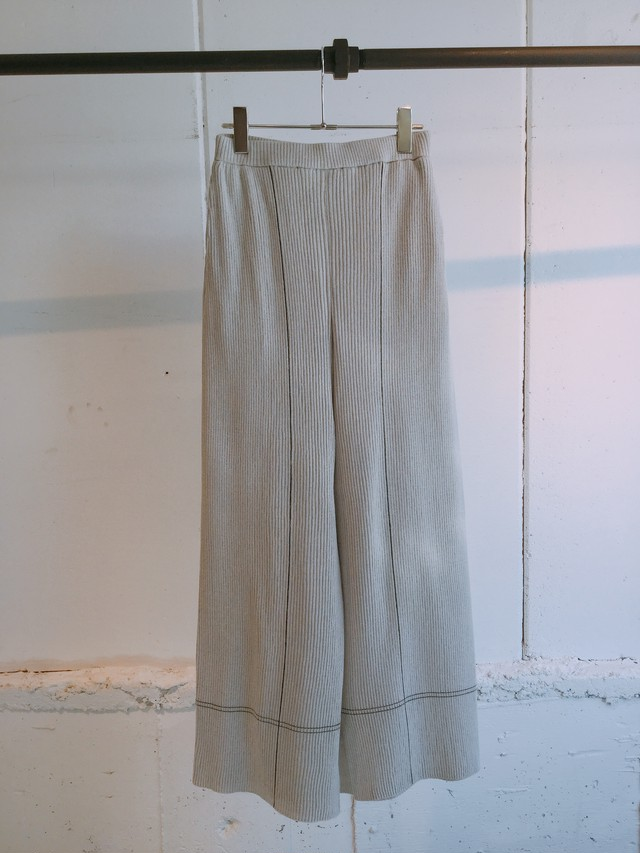 TAN   STICH RIB PANTS (LIGHT GRAY)