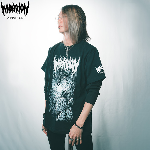【Cotton100%】LIVING DEAD MARRION (Black×Gray)