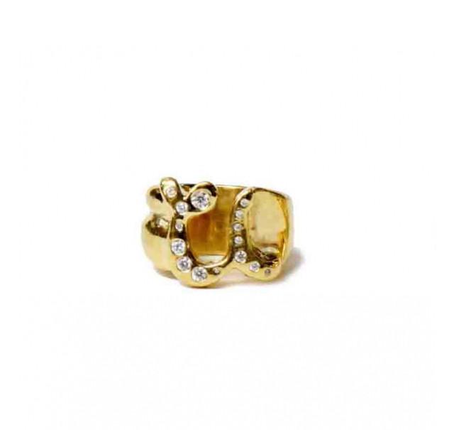 [予約商品]EFFECTEN/エフェクテン pinky ring'zirconia'gold