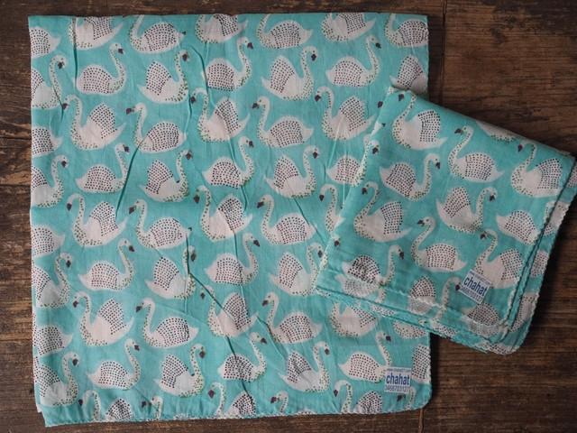 156ri050 Block Print Bandana b34