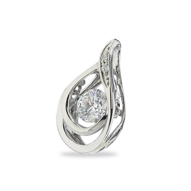 16:揺れるダイヤモンドペンダント0.2ct