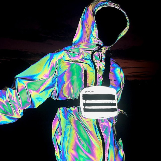 RFLCTIV Squid Ink Jacket - Intense rainbow     QS19-0205