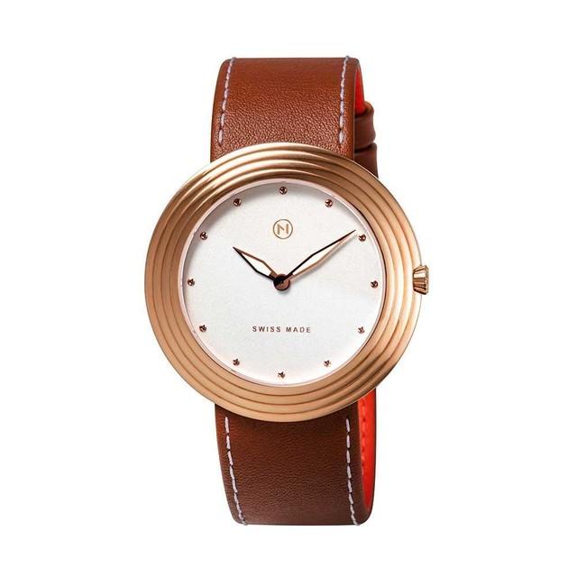 B008-01 Nove ストリームライナー スイス製 腕時計 Women  BrownRose