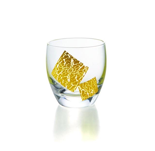 金箔風 冷酒グラス〜SP3S26-01〜  *丸モ高木陶器* お酒をより楽しむためのおしゃれな酒器!