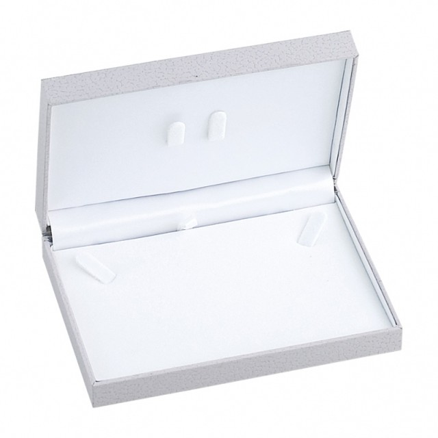 ネックレスボックス レザーペーパー調ステッチシリーズ 10個入り ST-10-N