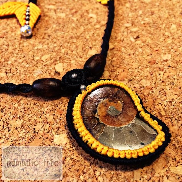 Ammonite Necklace//No.101