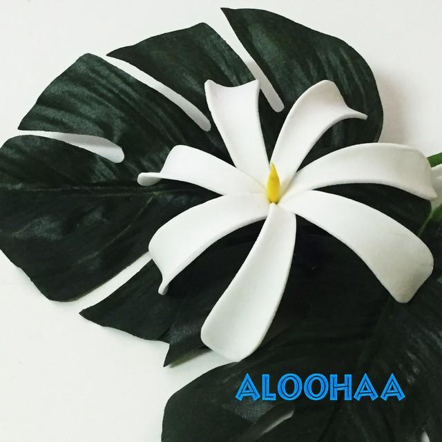 ティアレ M ヘアクリップ ウレタン造花ハワイアン、フラ、タヒチアン、衣装