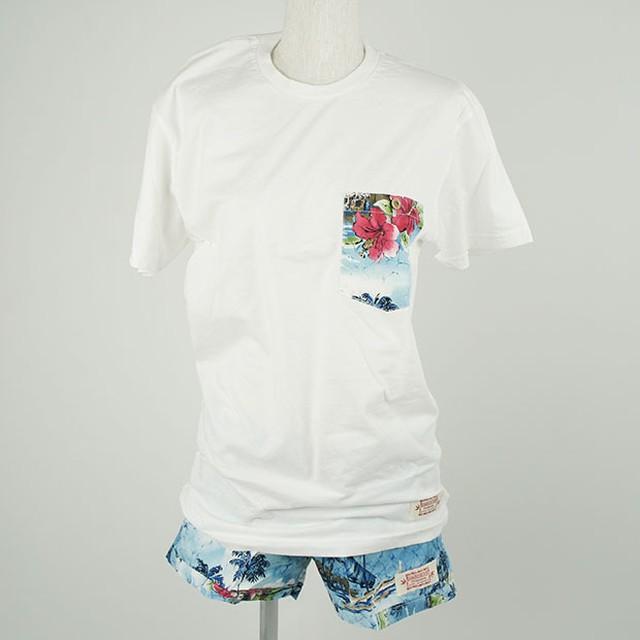 レディース Tシャツ&パンツセット ブルー(サイズS)/Wahine-NALANI-W1106-2SET BL S