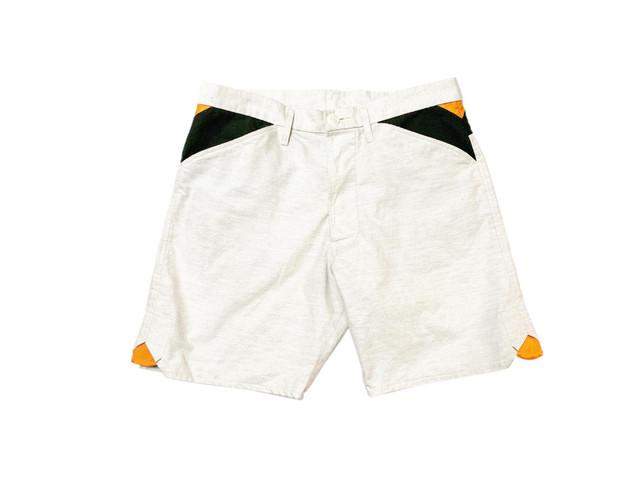20SS コットン100%フランネルショートパンツ / Cotton 100% flannel short pants / White