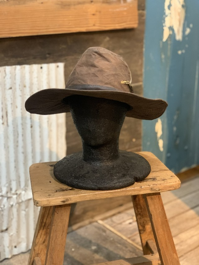 80-90's barbour oild hat