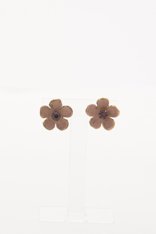 【Run Rabbit Run Vintage 】Pink flower earring