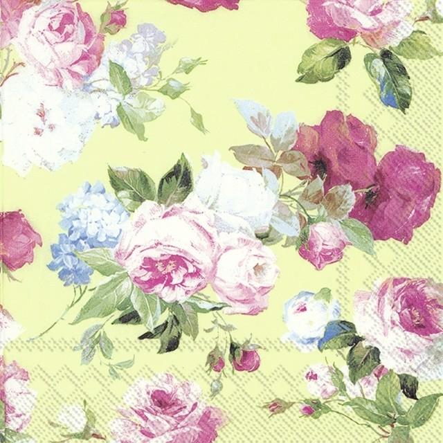 入荷しました|2020春夏【IHR】バラ売り2枚 ランチサイズ ペーパーナプキン SCARLETT ライトグリーン