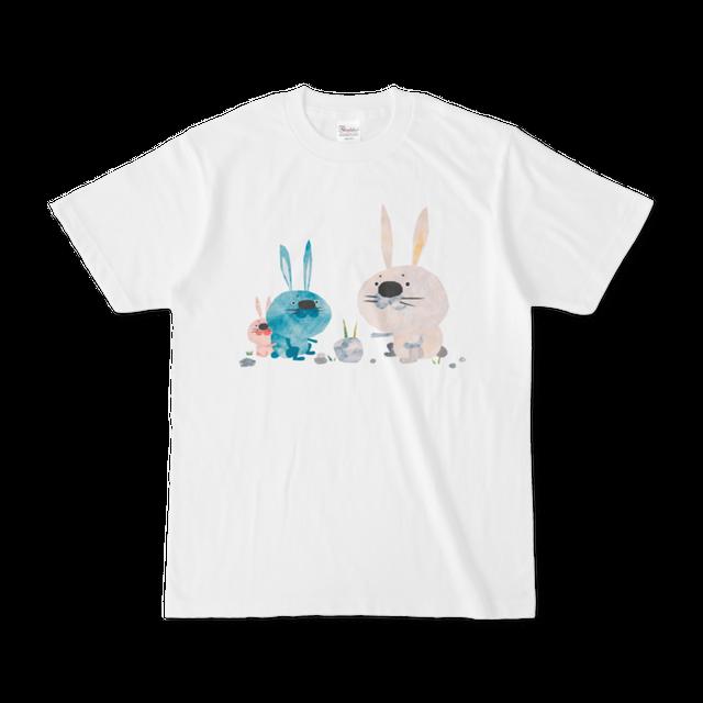 前面プリントイラストTシャツ 『うさぎのつみき』