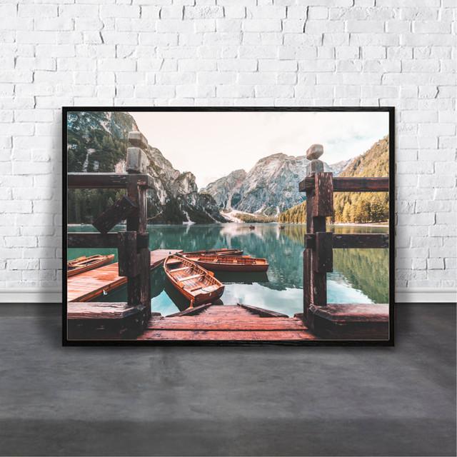 アートポスター Italy Lake Briesデザイン