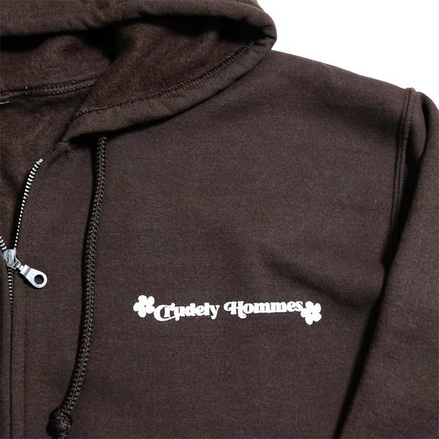 【Crudely Hommes】Hippie Logo Zip-up Hoodie